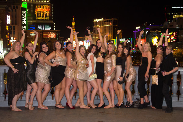 Bachelorette Party on the Las Vegas Strip