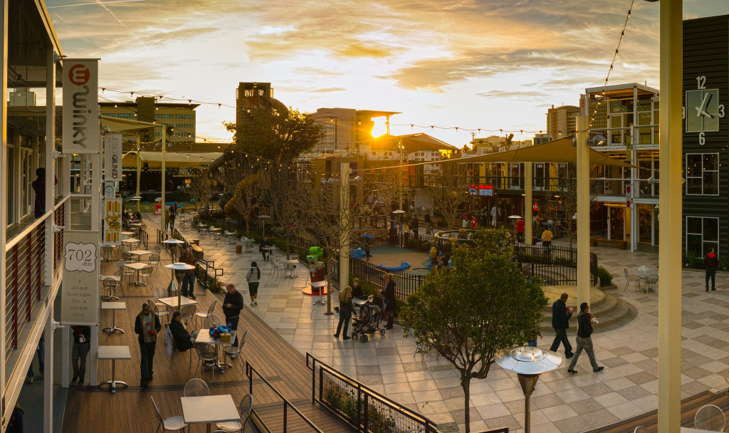 Inside Downtown Las Vegas' Container Park at Sunset