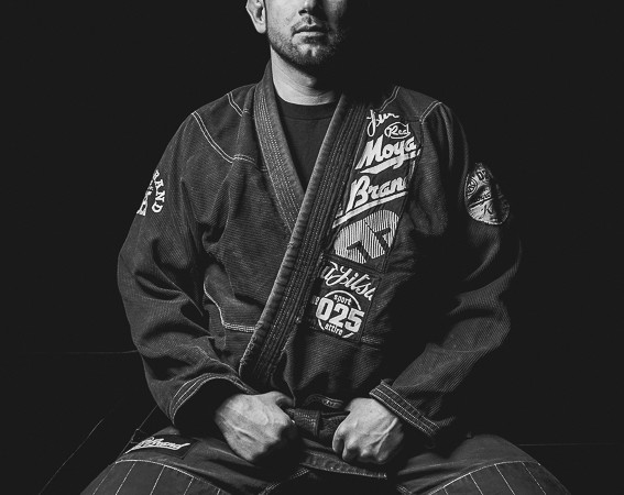 An editorial portrait of Brazilian Jiu-Jitsu Blackbelt Rodrigo Gutierrez